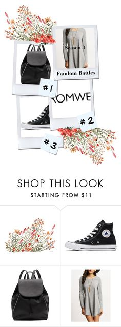 """""""ROMWE"""" by maxidress-1 ❤ liked on Polyvore featuring Converse, Witchery and Post-It"""