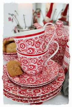 Red country cottage ..tea time