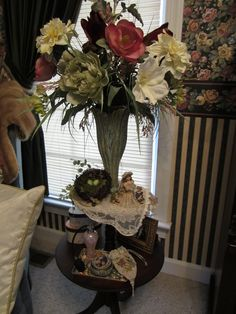 our master bedroom is Victorian and I have antique tables from my grandparents' house I had refurnished..they are special to me!