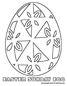 easter egg with floral pattern coloring page from easter eggs