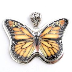 Broken China Jewelry Lenox Butterfly Meadow by vbellejewelry, $98.00