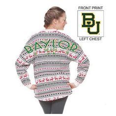 Baylor women's ugly Christmas long sleeve T-shirt