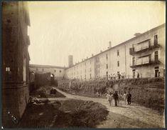 Foto della scomparsa Ghirlanda del castello sforzesco di Milano, lato del rivellino di Santo Spirito.