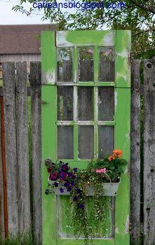 Wiederverwenden von alten Türen, Blumen, Gartenarbeit, Wiederverwendung Upcycling