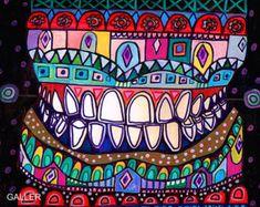 Dental art tile print on ceramic by Heather by HeatherGallerArt