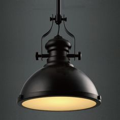 Industrial Country Painting Black Colored Large Pendant Light Will Light up Your House