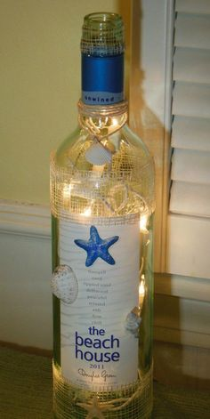 We have really come to love diy bottle crafts so for today we have gathered a small collection of wonderful DIY bottle lamps ideas and projects that should serve as a starting point for your next bottle diy project. Wine Bottle Corks, Lighted Wine Bottles, Bottle Lights, Wine Bottle Crafts, Bottles And Jars, Small Bottles, Glass Bottles, Whiskey Bottle, Diy Bottle Lamp