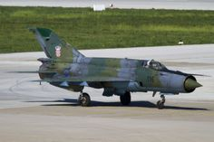 """Croatian Air Force Mikoyan Mig-21L """"Fishbed"""", finally to be returned to Croatia, after modernisation in Ukraine. Scheme will also add approximately 6-8 years to airframe life. In all 12 of the ageing fleet are to be thus modernised, as government finances permit."""