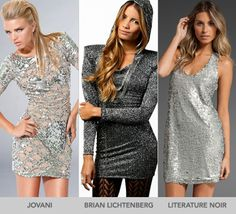 Silver Sequin Dresses
