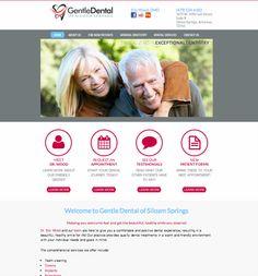 #sesamewebdesign #sds #dental #avalon #gray #red #fuschia