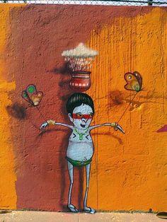 Artist: Cranio, Sao Paulo, (Brazil). #streetart