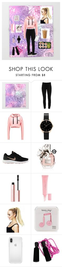 """pink sporty chic"" by bellaclairecassedemont ❤ liked on Polyvore featuring Elie Tahari, NIKE, Viktor & Rolf, Too Faced Cosmetics, Christian Dior, Happy Plugs and Speck"