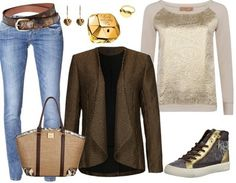 Casual outfit gold