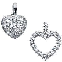 Diamant Anhänger im Pavée-Style günstig und versandkostenfrei bei www.juwelierhausabt.de / www.pearlgem.de bestellen.