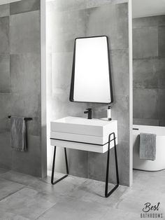 #BestBathrooms. Play the symmetric-asymmetric dynamism of Pure Line for #bathrooms