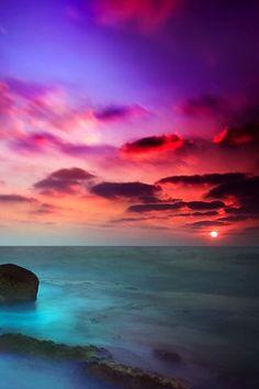 Sunset cell phone wallpaper | Violet Sunset iPhone wallpaper