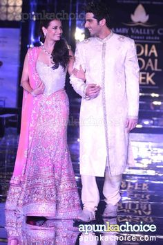 Dia Mirza and Zayed Khan for Adarsh Gill at Aamby Valley India Bridal Week 2011