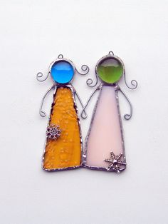 FREE SHIPPING EVERYWHERE  Best friends forever by SaintGlass, $20.00