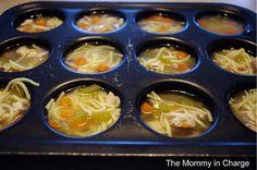 Ideia para congelar sopas.