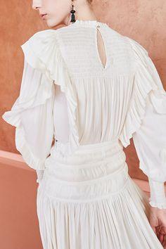 Jessamine Blouse - Ivory   Free Shipping on all U.S. Orders Ella Moss, Ulla Johnson, All White, Shirt Blouses, Muse, Women Wear, Ivory, Ruffle Blouse, Free Shipping