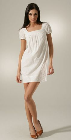 White Cotton Eyelet Dress  White cotton eyelet dresses can make ...