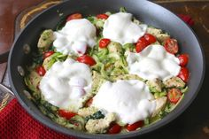 """One Pan Pesto Chicken and """"Pasta"""" Skillet - OPD 7.11.14"""
