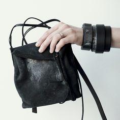 Bag YTN7 and jewelry line WILDHORN  WILDHORN BRACELET | BLACKMETAL SERIES buy online wildhornj.com #leatherbackpack #bag #bangle #cuff