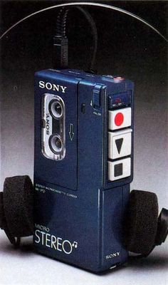 Sony M-1PD Stereo Microcassette-Corder, 1981