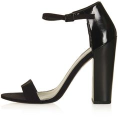 TOPSHOP Ratchet Block Strappy Heels (€47) ❤ liked on Polyvore featuring shoes, sandals, heels, topshop, high heels, black, strap high heel sandals, black sandals, black high heel shoes and black block-heel sandals