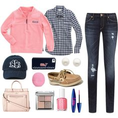 Pink & Navy Vineyard Vines Basics