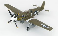 Hobbymaster 1:48 North American P-51B Diecast Model Airplane HA8509 This North American P-51B Mustang 43-12434 `Short-Fuse Sallee` (USAAF 356 FS 354 FG 1944) Diecast Model Airplane features working propeller. It is made by Hobbymaster and is 1:48 scale (approx. 23cm / 9.1in wingspan). General Background The only difference between the North American P-51B and C variants was the B was built in Inglewood and the C in Dallas. The B variant first flew on May 5, 1943 and the C variant first…