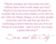 sex and the city - Click image to find more My Life Pinterest pins