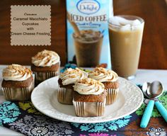 Melissa's Southern Style Kitchen: Cinnamon Caramel Macchiato Cupcakes with Cream Cheese Frosting