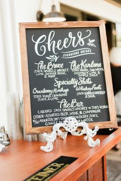 They celebrated with their guests with signature drinks (named after their grandparents), dancing, and delicious food.