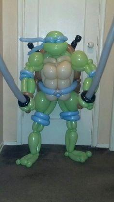 Ninja Turtle Twist Balloon....a little challenge for you....