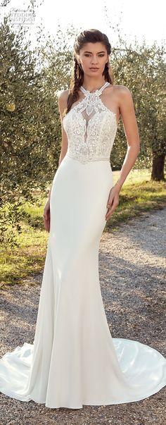 eddy k 2019 ek sleeveless halter neck heavily embellished bodice elegant sheath wedding dress chapel train (25) mv -- Eddy K. 2019 Wedding Dresses