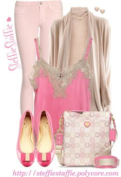 Shades of Pink by steffiestaffie on Polyvore