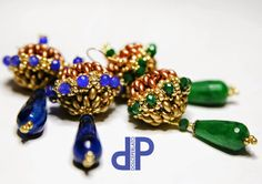 DolcePerlato: Earrings with drops of agate