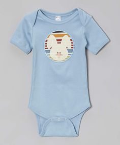 Cute Easter indie! Blue Stripe Bunny Bodysuit - Infant