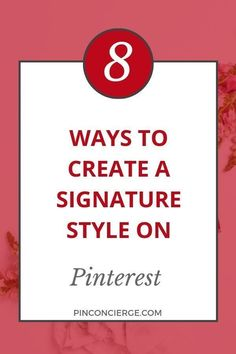 Use these 8 tips to help you create a signature style on your pins in Pinterest to help with all your brand recognition and pinterest marketing for businesses and bloggers looking to grow their account. #pinconcierge #pinterestmarketing #pinterestforbusiness Branding Your Business, Business Marketing, Business Tips, Social Media Marketing, Online Business, Create A Signature, Signature Style, Feeling Stuck, How Are You Feeling