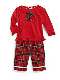 Hartstrings Infant's+Presents+&+Plaid+Pajama+Set