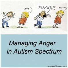 Managing Anger in Autism Spectrum - ways to avoid meltdowns and how to help when your student has one avspeechtherapy.com