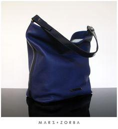 Mars+Zorba Olympia Blue Hobo #carteras #cuero #calfskin #handbags #design #fashion #blue #azul #hobo #lux #buenosaires #designer