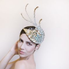 bird of paradise, dragon cocktail hat, fascinator https://www.etsy.com/il-en/shop/MaorZabarHats?ref=si_shop