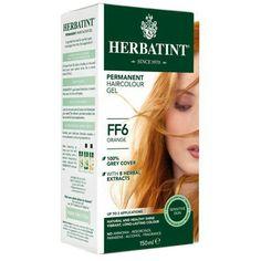 Permanentní barva na vlasy Oranžová FF6 Herbatint - Krásná Každý Den Herbal Extracts, Cover Gray, Natural Skin, Sensitive Skin, Herbalism, Hair Color, Fragrance, Healthy, Nature