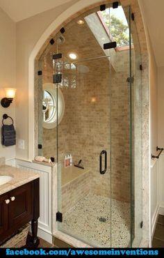 Attic shower design