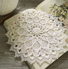 Crochet Patterns Ravelry Ravelry: Leylight pattern by Julia Hart Crochet Dollies, Cotton Crochet, Thread Crochet, Crochet Flowers, Doilies Crafts, Lace Doilies, Free Crochet Doily Patterns, Crochet Doily Rug, Crochet Granny