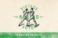 Vintage Boxing Vector Pack by shadok on Creative Market