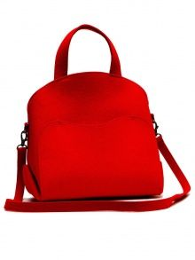 Red Wool Bag | NOT JUST A LABEL