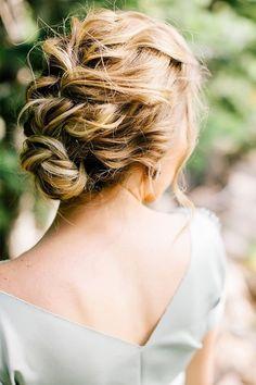 Französisch Geflochtene Hochsteckfrisur für Mittellanges Haar